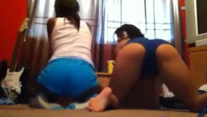 Bubble butt, ebony girl, Euro Lesbian and her handsome friend got down and dirty, on the floor