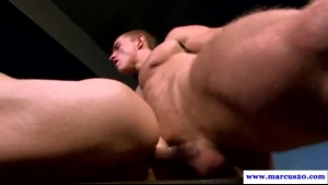 Sinful blonde milf handling two hard dongs